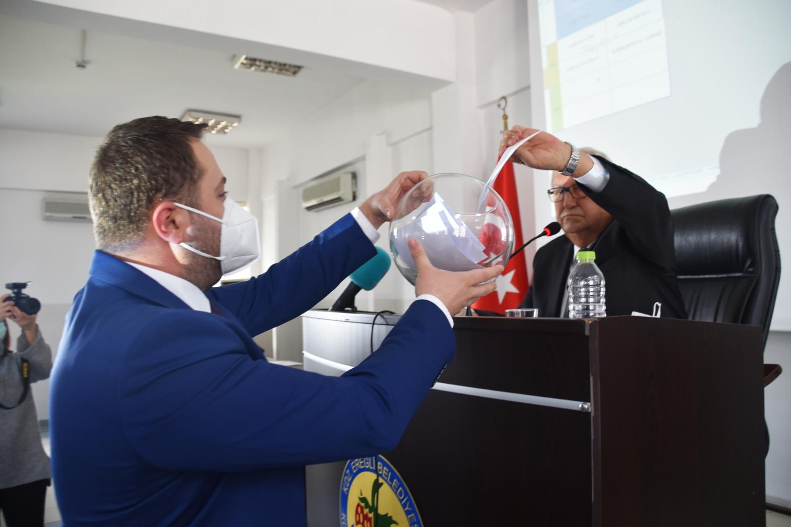 Ereğli Belediyesi Meclis de seçim yapıldı